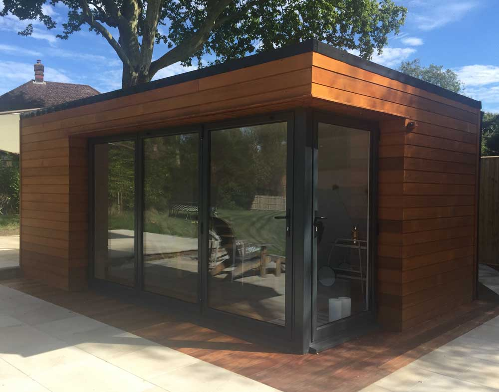 Electrical Buildings With Green Doors Uk