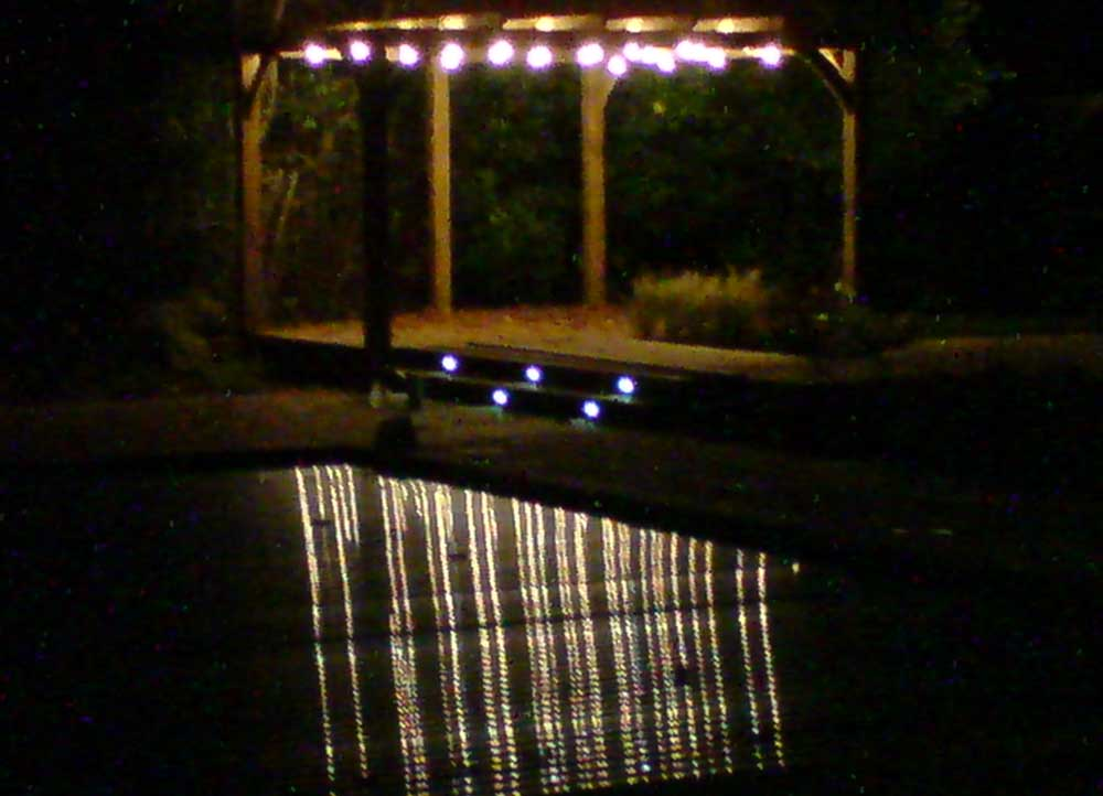 The pergola at night