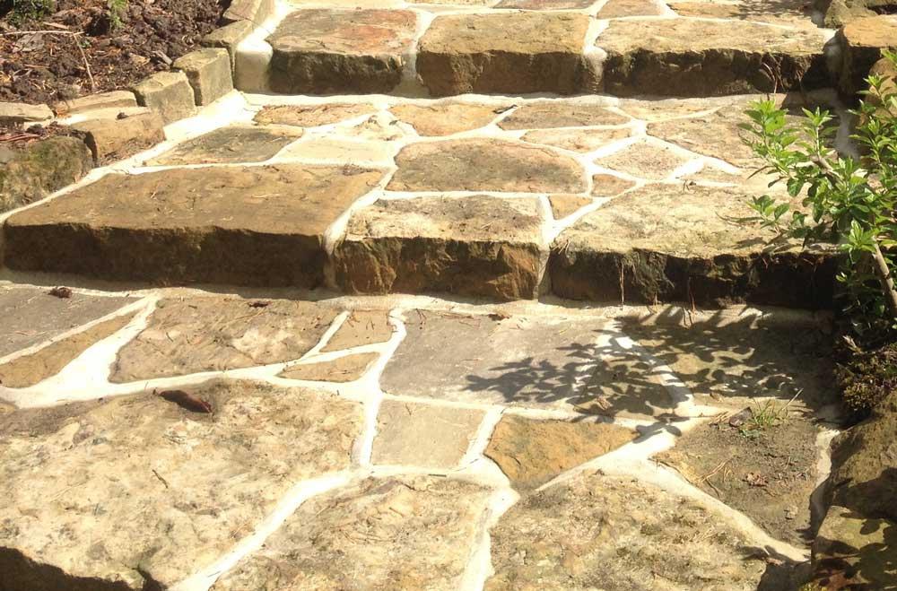 Rustic steps