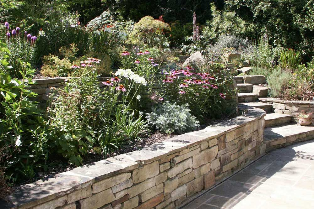 Traditional walling and steps