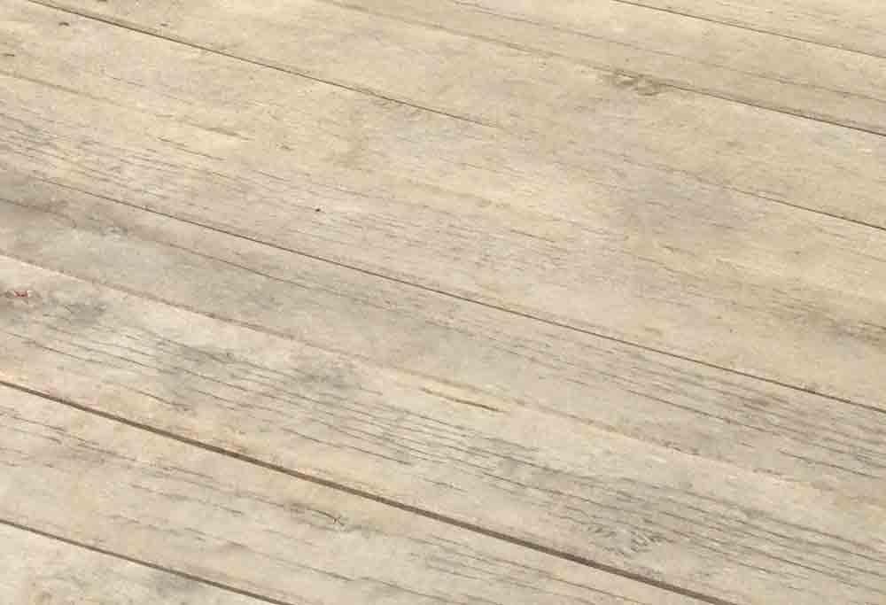 Oak decking