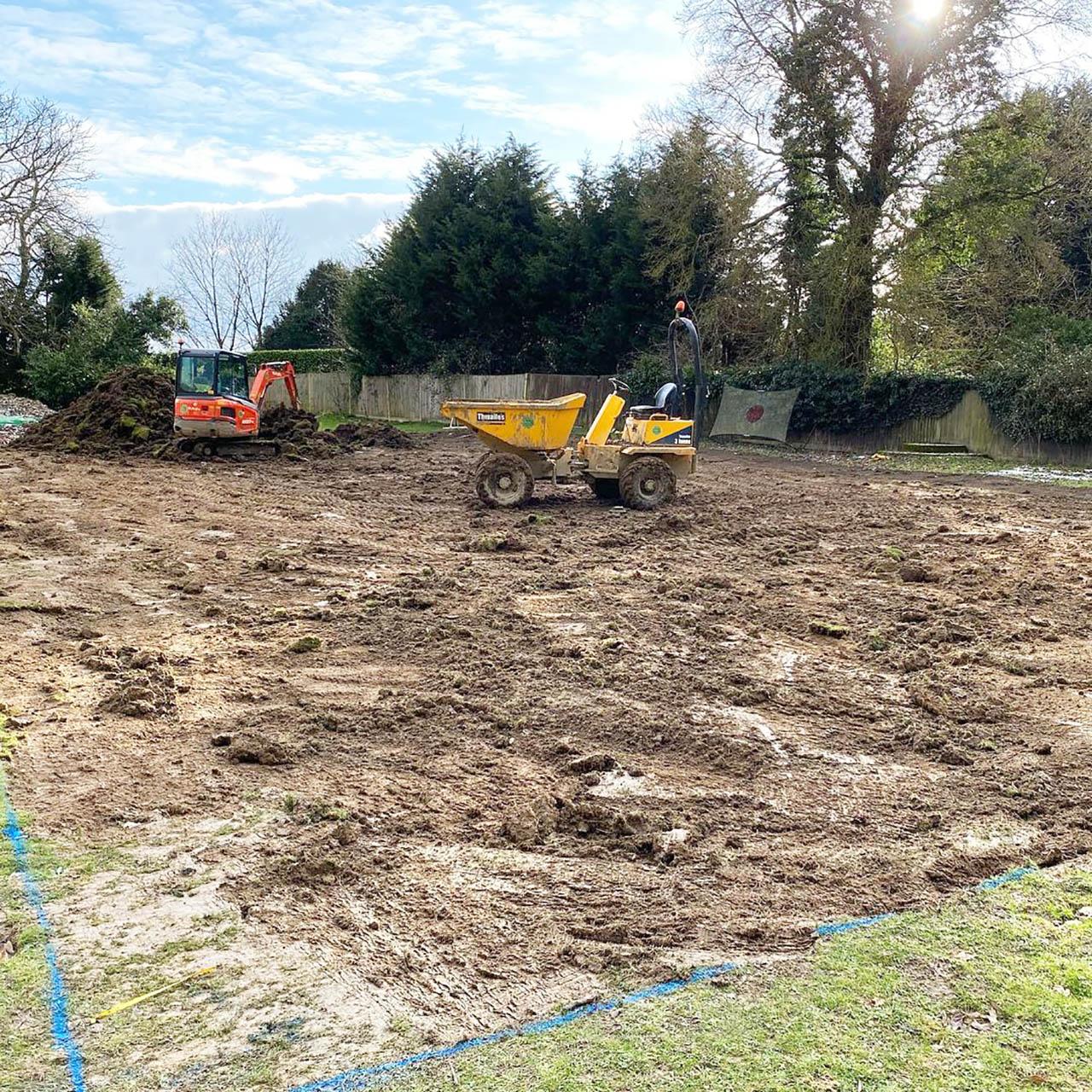 1. Groundworks Preperation for New Tennis Court – Nr Horsham