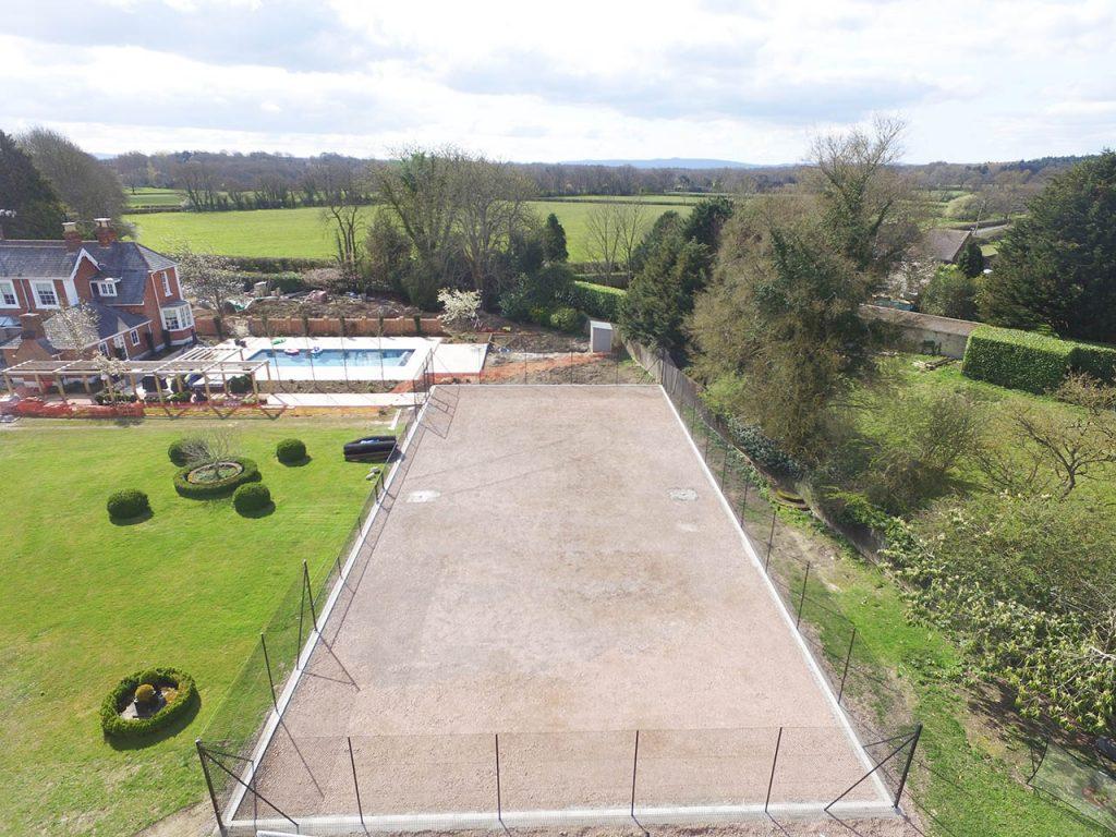 4. Tennis Court Groundworks Complete - Nr Horsham