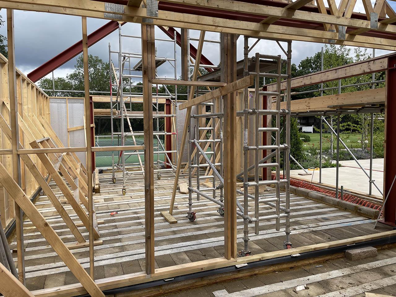 Scandia-Hus Swimming Pool House Frame Up